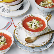 Food & Wine: Spicy Tomato-and-Watermelon Gazpacho with Crab