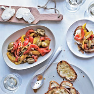 Food & Wine: Anchovy and Roasted-Pepper Salad with Goat Cheese