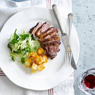 Food & Wine: Duck Breasts with Crispy Potatoes and Frisée Salad