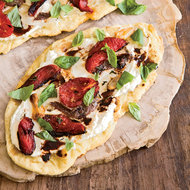 Food & Wine: Flatbread with Tomatoes, Ricotta and Anchovies