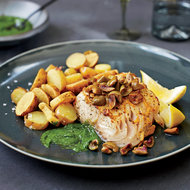 Food & Wine: Mustard-Glazed Black Cod with Fingerlings and Chive Puree