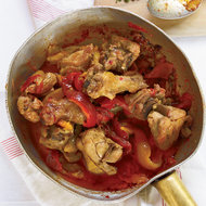 Food & Wine: Roman-Style Braised Chicken with Roasted Peppers