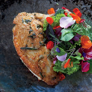 Food & Wine: Chicken with Mesclun Salad and Passion Fruit Vinaigrette
