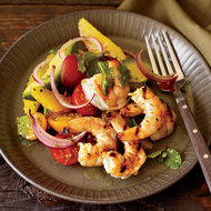 Food & Wine: Grilled Shrimp with Mom's Avocado-and-Orange Salad