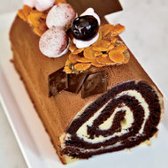 Food & Wine: Cherry-and-Chocolate Bûche de Noël