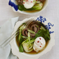 Food & Wine: Soba Noodles with Dashi, Poached Egg and Scallions