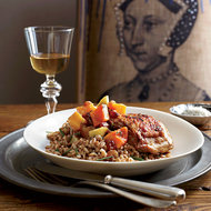 Food & Wine: Crispy Chicken Thighs with Golden Raisin Compote