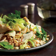 Food & Wine: Farro with Artichokes and Herb Salad