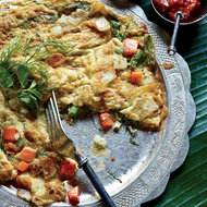 Food & Wine: Lao Omelet with Dill, Scallion and Thai Chile