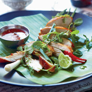 Food & Wine: Lemongrass-Cilantro Chicken with Honey Dipping Sauce