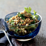 Food & Wine: Spiced Lentils with Mushrooms and Greens