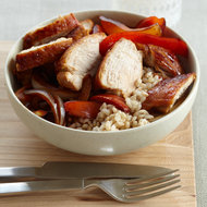 Food & Wine: Ginger-Marinated Chicken with Onions and Peppers