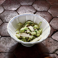 Food & Wine: Shaved Zucchini Salad with Parmigiano and Pistachios