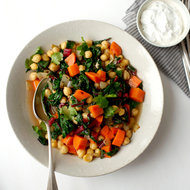 Food & Wine: Caraway-Spiced Chickpea Stew with Mint Yogurt