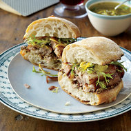 Food & Wine: Crispy Pork Belly Sandwiches with Meyer Lemon Relish