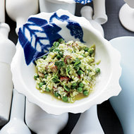Food & Wine: Pea-and-Bacon Risotto