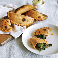 Food & Wine: Spinach-and-Green-Pea Empanadas