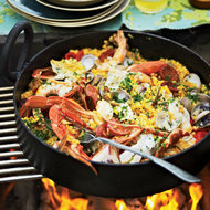 Food & Wine: Easy Grilled Paella