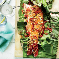 Food & Wine: Whole Grilled Fish with Crispy Garlic and Red Chiles