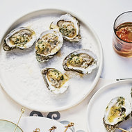 Food & Wine: Grilled Oysters with Tabasco-Leek Butter