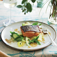 Food & Wine: Barbecued Salmon with Green Mango Salad