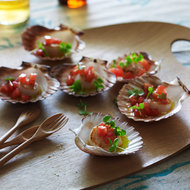 Food & Wine: Scallops with Warm Tomato-Basil Dressing