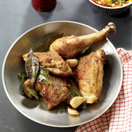 Food & Wine: Pan-Roasted Chicken with Corn Relish