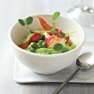 Food & Wine: Pea Porridge with Fresh Cheese and Ham