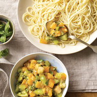 Food & Wine: Angel Hair with Green-and-Yellow-Tomato Sauce