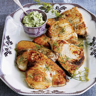 Food & Wine: Grilled Swordfish with Lima-Bean-and-Herb Butter