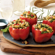 Food & Wine: Stuffed Peppers with Thai Curry Rice and Mushrooms