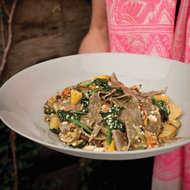 Food & Wine: Buckwheat Pasta with Summer Squash, Tomatoes and Ricotta