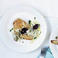 Food & Wine: Chicken Breasts with Artichoke-Olive Sauce