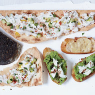 Food & Wine: Flatbreads with Cucumber Raita