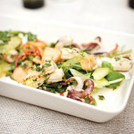 Food & Wine: Grilled Squid Salad with Arugula and Melon