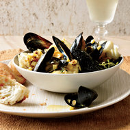 Food & Wine: Curried Cod and Mussels