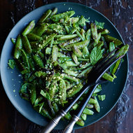 Food & Wine: Blistered Snap Peas with Mint