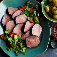 Food & Wine: Roast Beef with Oven-Roasted Tomato Salsa