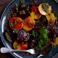 Food & Wine: Roasted Beets with Pistachios, Herbs and Orange