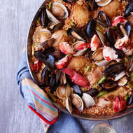 Food & Wine: Chicken-and-Seafood Paella