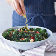 Food & Wine: Grilled Kale with Garlic, Chiles and Bacon
