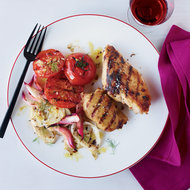Food & Wine: Tuscan Chicken with Grilled Fennel and Onions