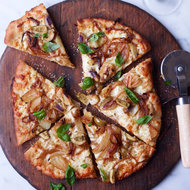 Food & Wine: Fennel-and-Sweet-Onion Pizza with Green Olives