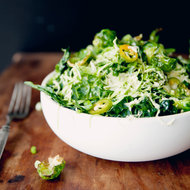 Food & Wine: Raw and Fried Tuscan Kale and Brussels Sprout Salad
