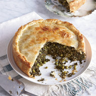 Food & Wine: Spinach-and-Grape-Leaf Pie