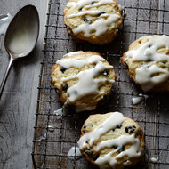 Food & Wine: Cream Cheese Cookies with Blueberries and Lime Glaze