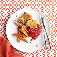Food & Wine: Roast Chicken Thighs with Tomato-Tapioca Porridge