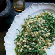 Food & Wine: Haricots Verts and White Beans with Shallot Vinaigrette
