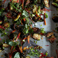 Food & Wine: Warm Brussels Sprouts with Honey, Caraway & Lime