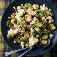 Food & Wine: Jerk-Spiced Brussels Sprouts, Cauliflower and Chickpeas